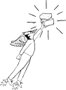 reverse flying man icon