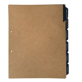 Leather Tab Folder Dividers