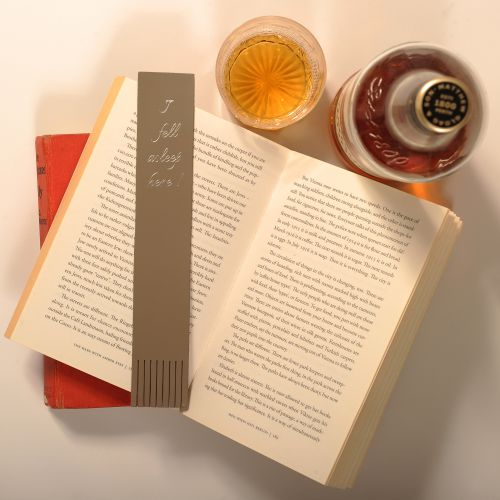 Leather Bookmark - 'I Fell Asleep Here' bookmark: Poppy