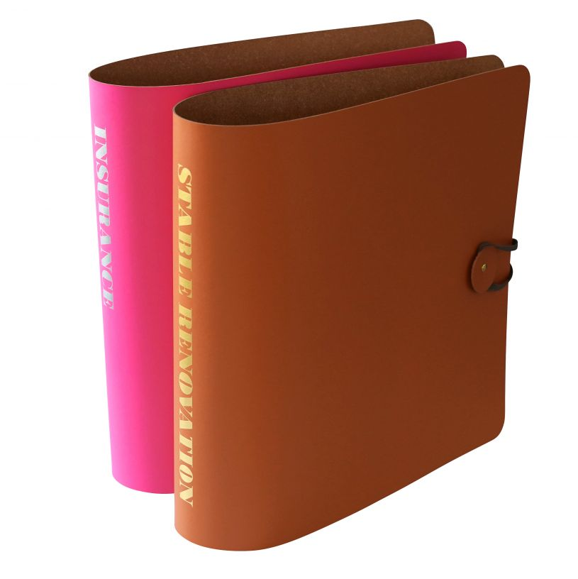 Spine Personalised A4 Leather Lever Arch Binder At