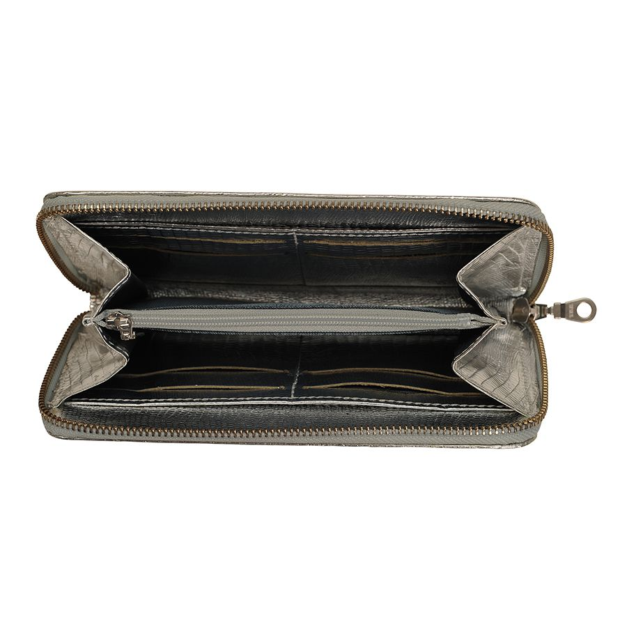 Metallic Lizard Long Zip Purse At Undercover Online