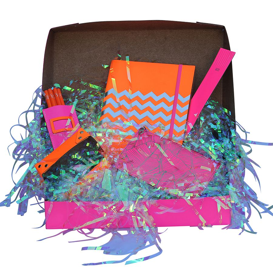 Fluoro Pink Leather Hamper At Undercover Online Colourful