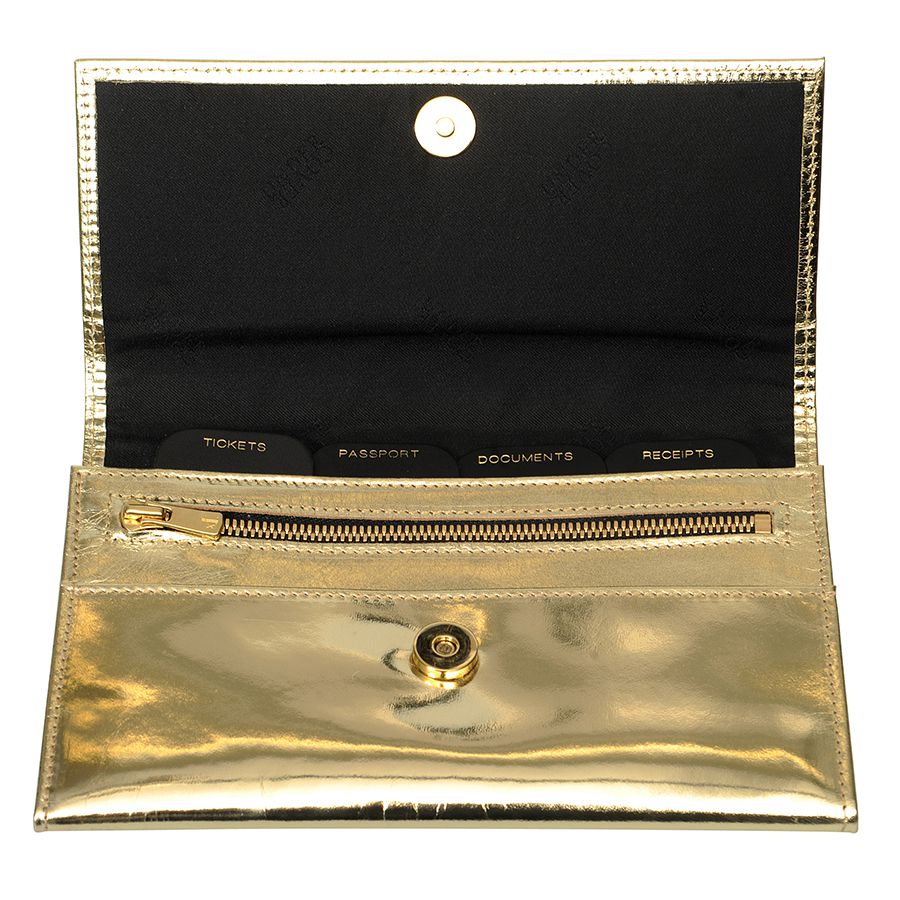 Gold Leather Travel Organiser At Undercover Online